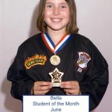Student of the month Bella (June 2014)