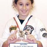 Student of the month Jennifer (September 2014)