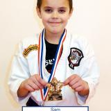 Student of the month Sam (January 2015)