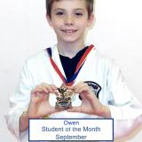 Student of the month Owen (September 2014)
